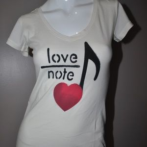 LIFE IS GOOD Love Note Heart S/S Tee T-Shirt XS